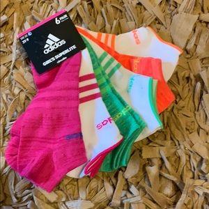 Adidas Girl's Superlite Climalite 6 pack Socks